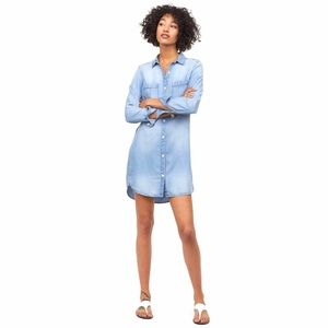 Light Washed Denim, Long Shirt/Dress